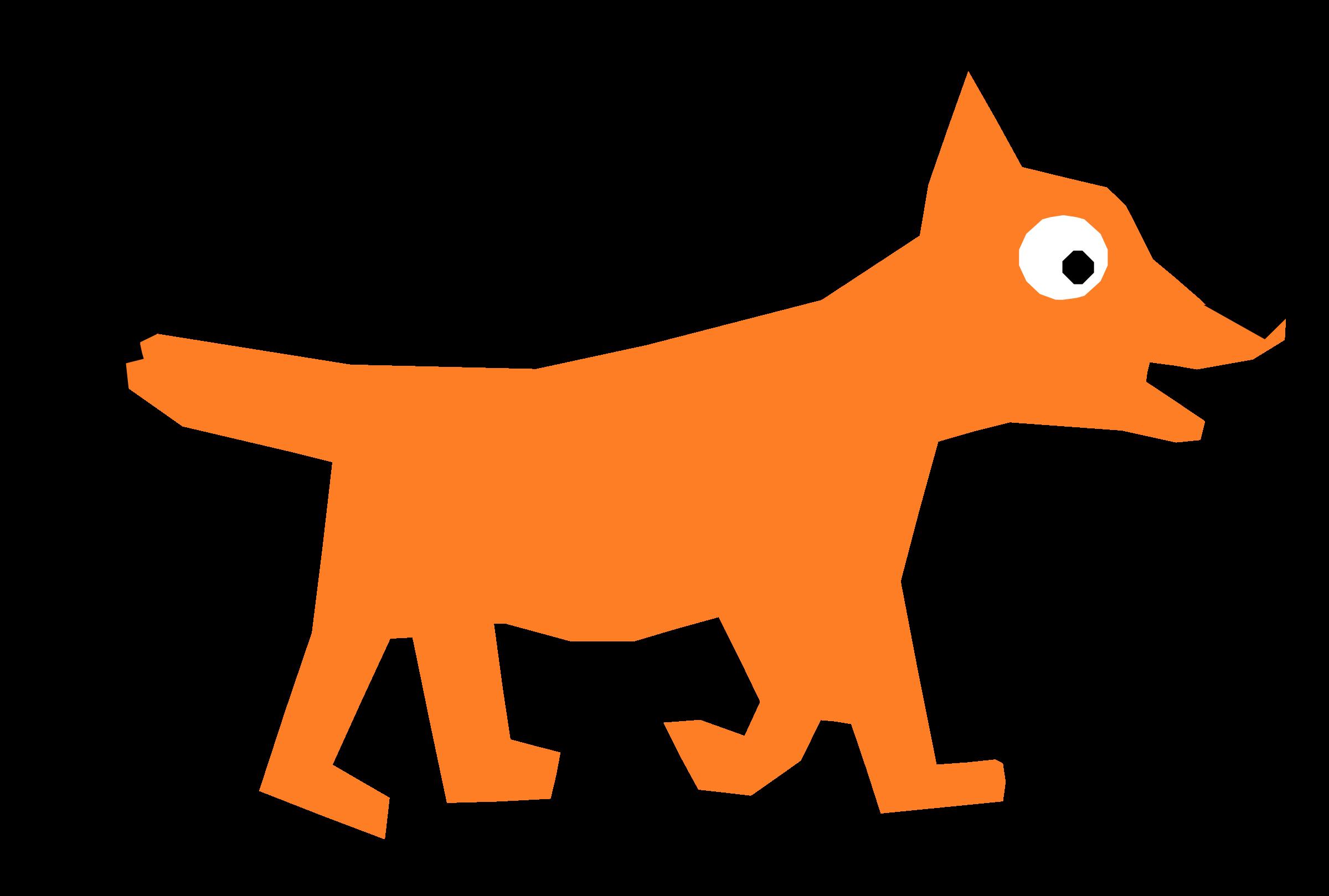 Orange Cartoon Fox Vector Clipart